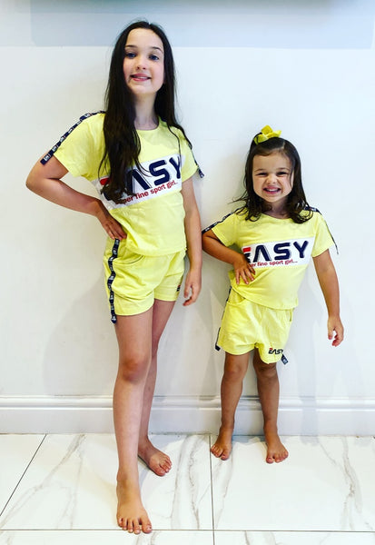 Yellow Easy Shorts Set