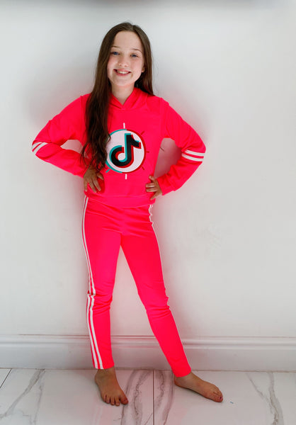 Neon Tik Tok Pants Set