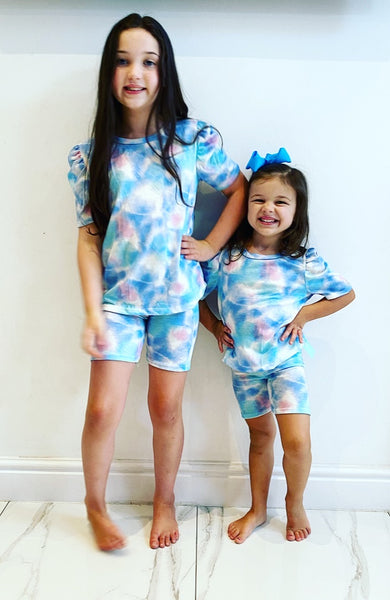 Blue Belmira Shorts Set