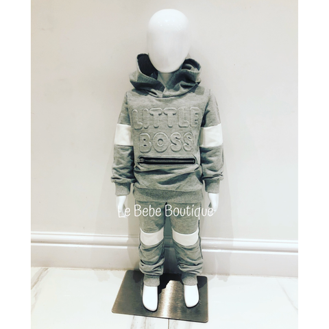 Grey Little Boss Tracksuit