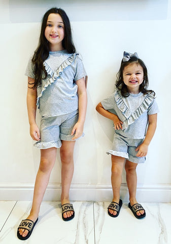 Grey Ellera Shorts Set