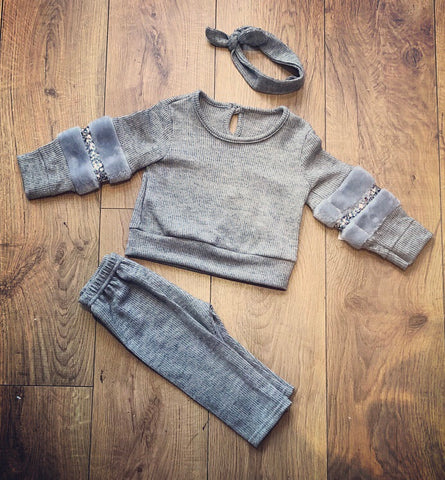 Grey Tamsyn Tracksuit with Matching Headband