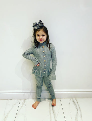 Grey Graziella Knitted Leggings Set