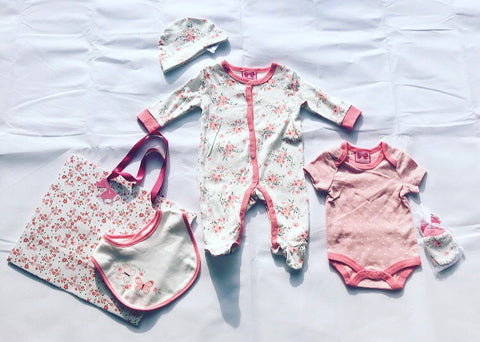 Butterfly Babygrow 5 Piece Set