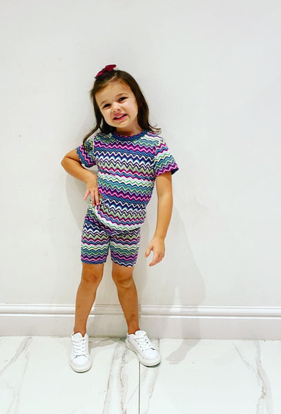 Purple Maysi Shorts Set