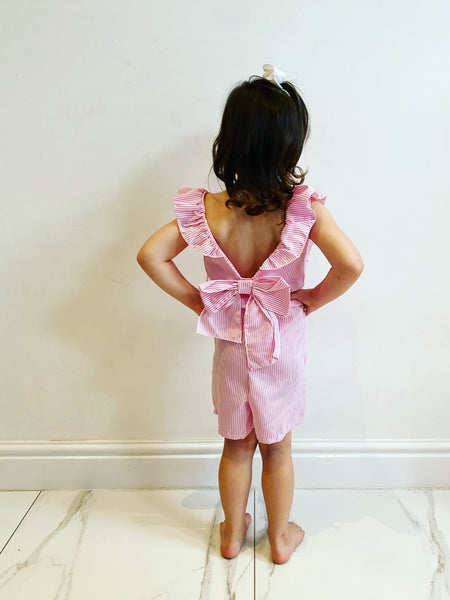 Pink Kimmia Bow Back Playsuit