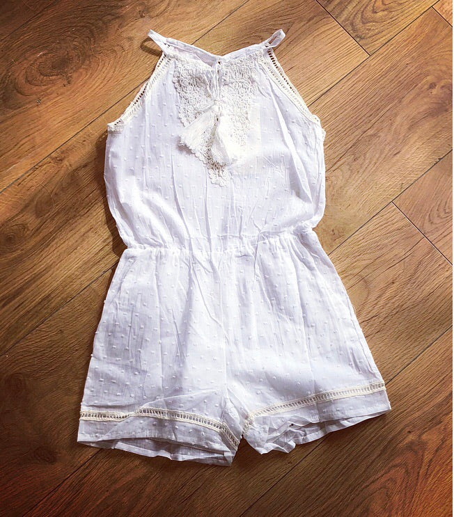 White Tamsyn Playsuit