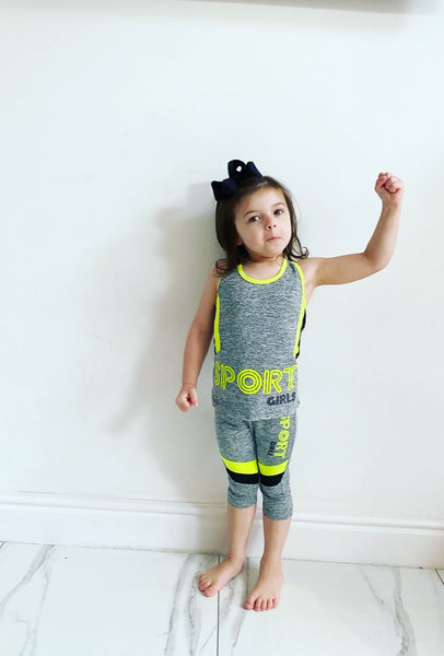 Yellow Lucine Sport Pants Set