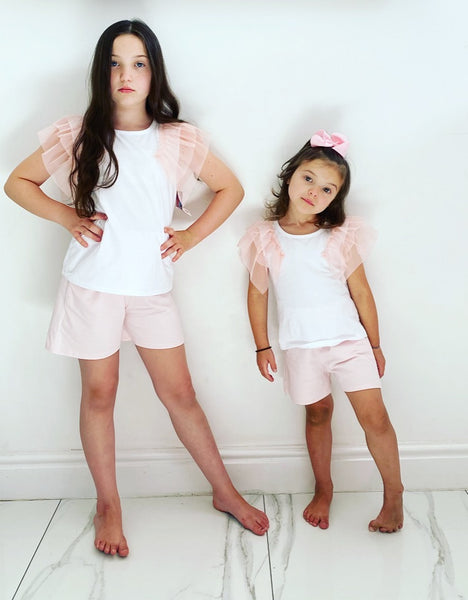 Pink Pippi Shorts Set