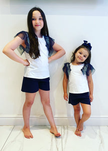 Navy Pippi Shorts Set