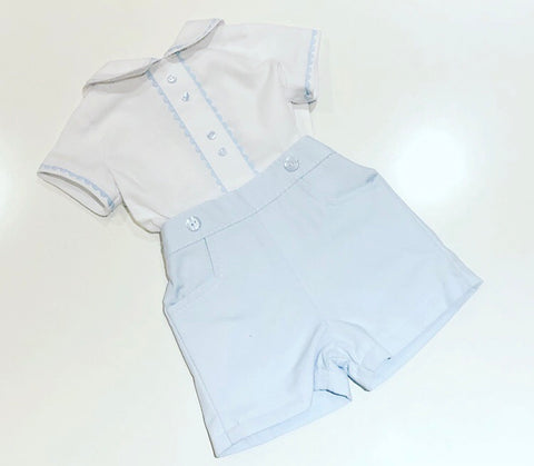 Blue Georgie Shorts Set