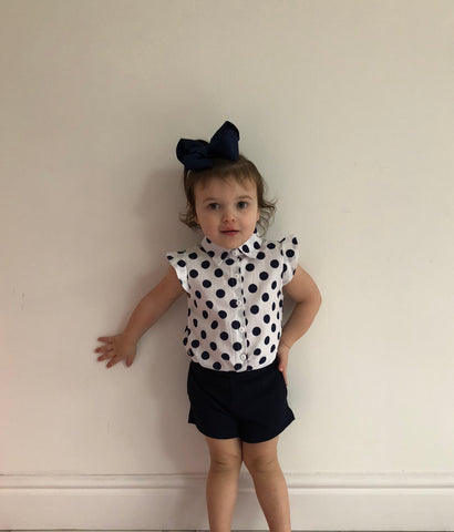 Navy Miah Shorts Set