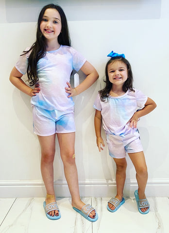 Blue Balia Shorts Set