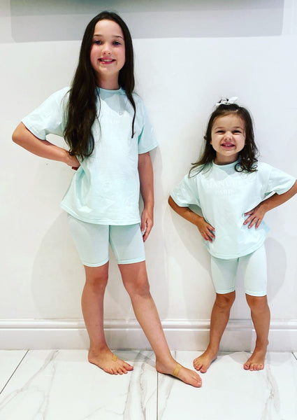 Mint Manual Paris Shorts Set