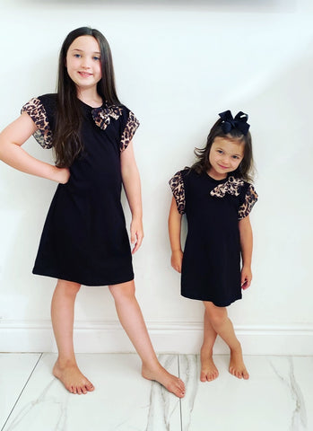 Black Lacey Bow Dress