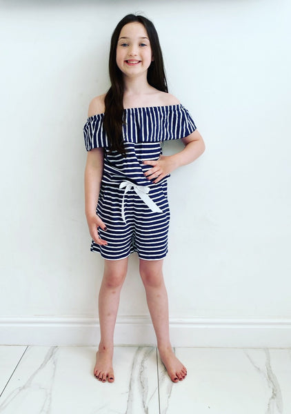 Keily Striped Playsuit