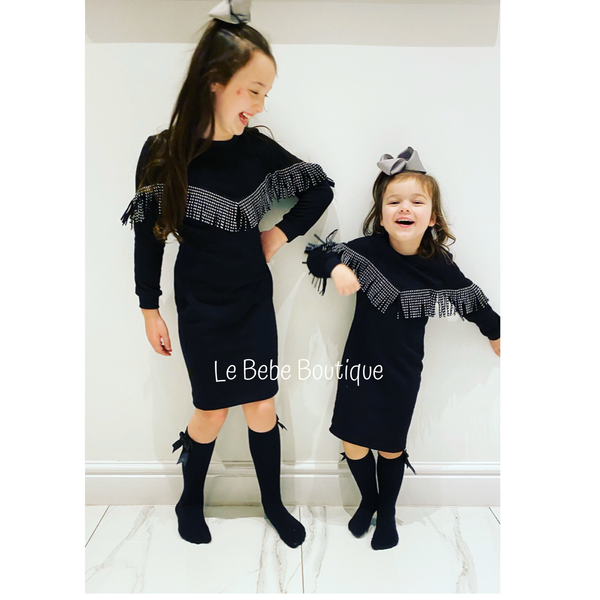 SOLD OUT Black Blaine Tassel Dress