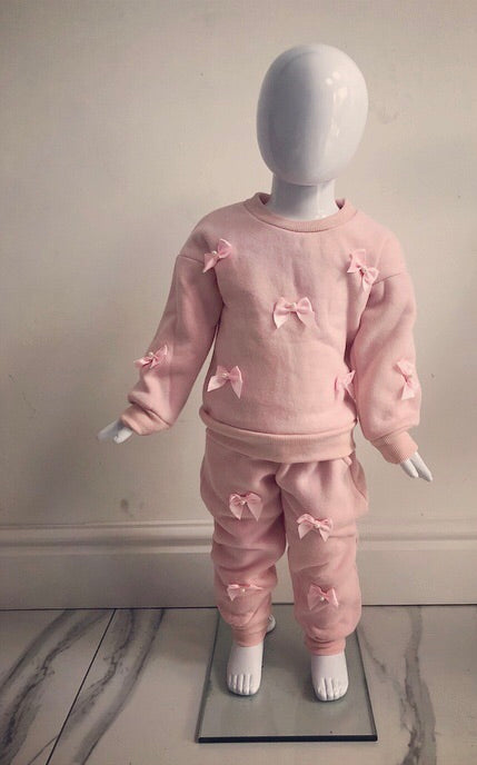 Pink Amelie Bow Tracksuit