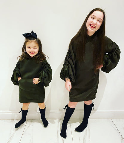 Khaki Madison Hoodie Dress