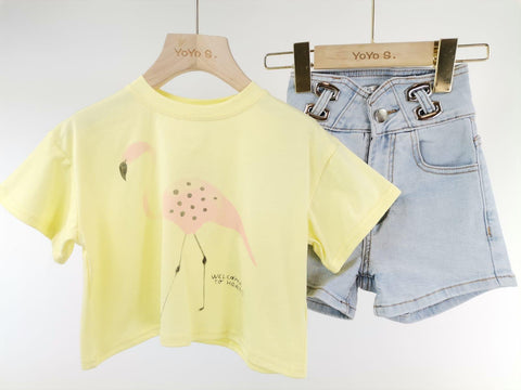 Yellow Lulu Shorts Set