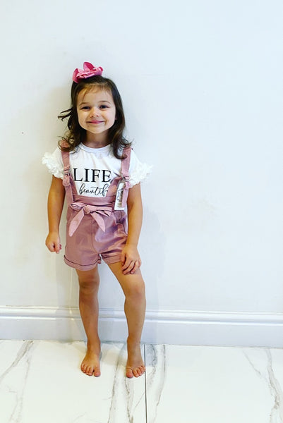 Dusky Pink Belle Shorts Set