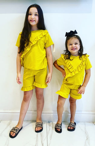 Yellow Ellera Shorts Set
