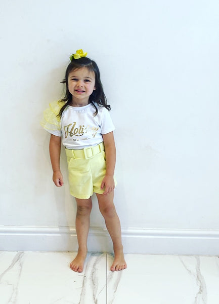 Yellow Ella Shorts Set