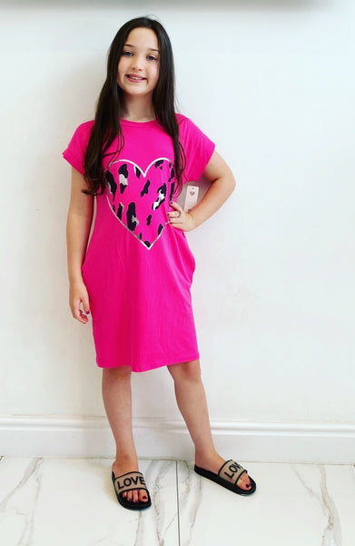 Cerise Pink Fia Dress
