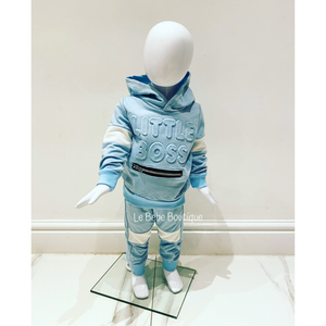 Blue Little Boss Tracksuit