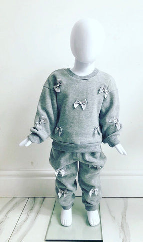 Grey Amelie Bow Tracksuit