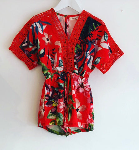 Red Harper Playsuit