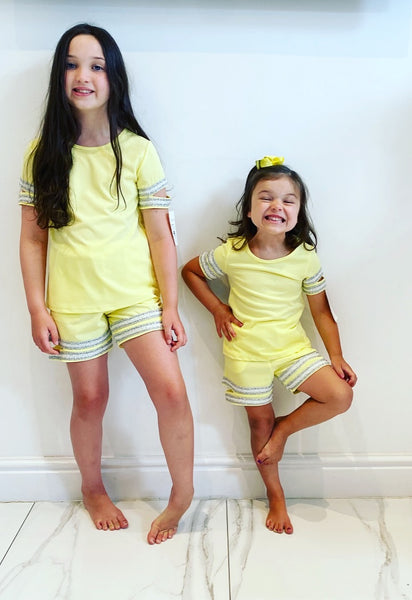 Yellow Alena Shorts Set