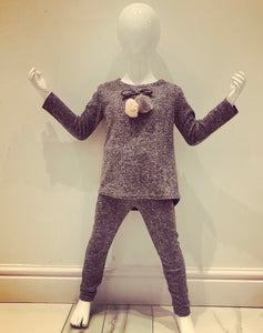 SOLD OUT Grey Briella Pom Pom Tracksuit