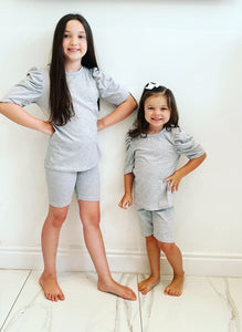 Grey Delilah Shorts Set