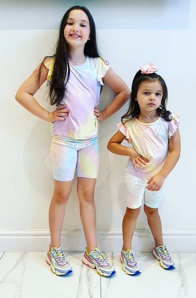Lilac/Yellow Donelle Shorts Set