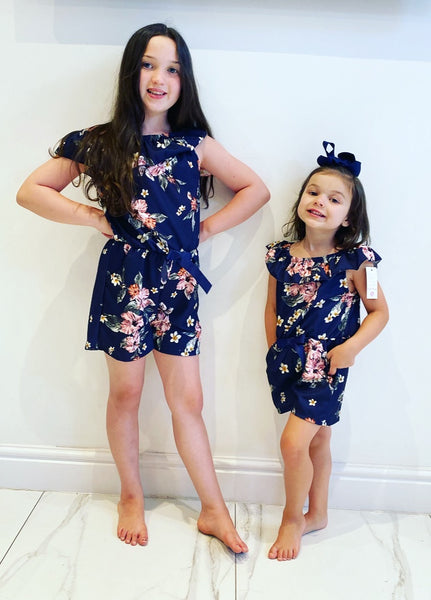 Navy Clarisse Playsuit
