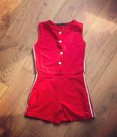 Red Darcy Playsuit