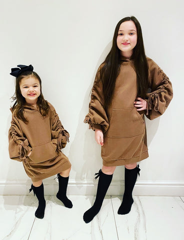 Brown Madison Hoodie Dress