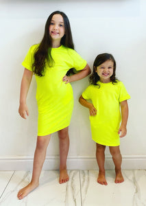 Yellow Radella TShirt Dress