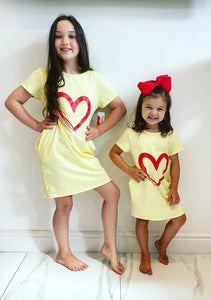 Yellow Callie Heart Dress