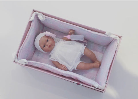 Spanish Girl Doll with Sleep Cot