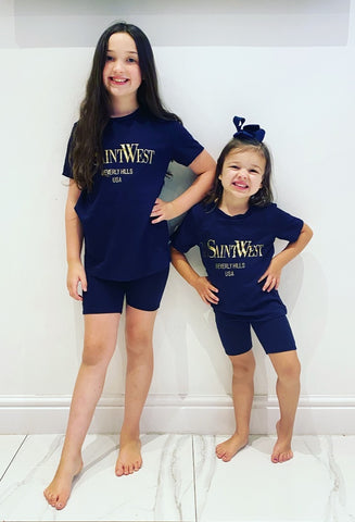 Navy Saint West Shorts Set