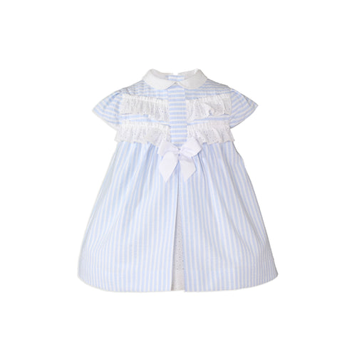 Miranda Baby Girls Blue Stripe Dress
