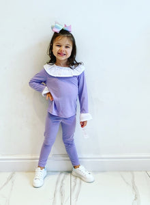 Purple Graca Leggings Set