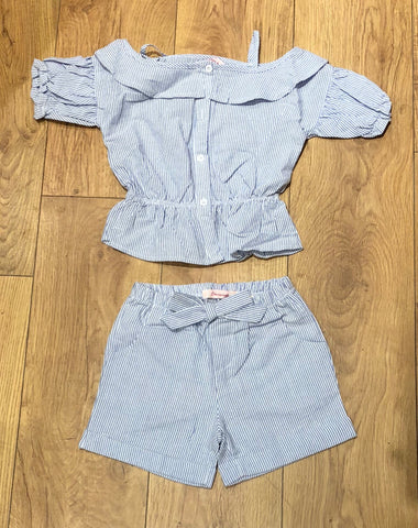Blue Soraya Shorts Set