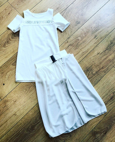 White Elise Dress Set