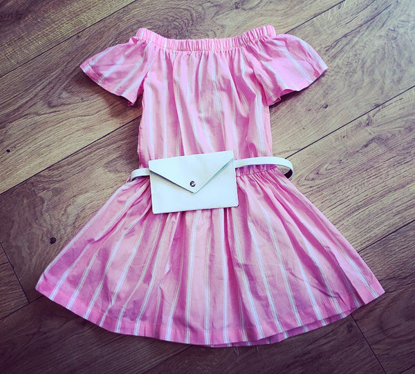 Pink Lauret Dress with Purse