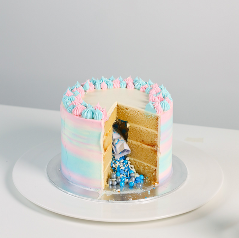Secret Message / Gender Reveal Cake 5.5 inch by Kanteen's Kitchen | Cake Together | Birthday Cake Delivery
