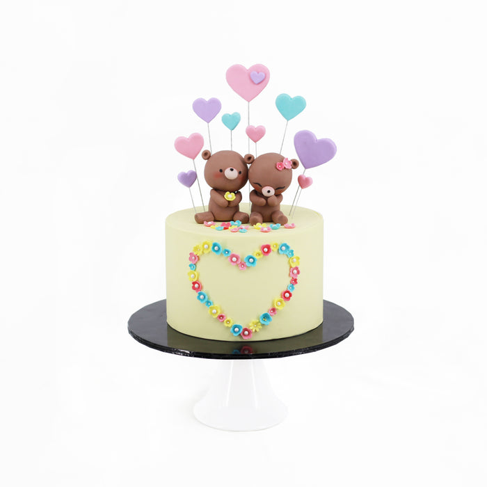 Bear Couple 6 inch - Cake Together - Online Birthday Cake Delivery