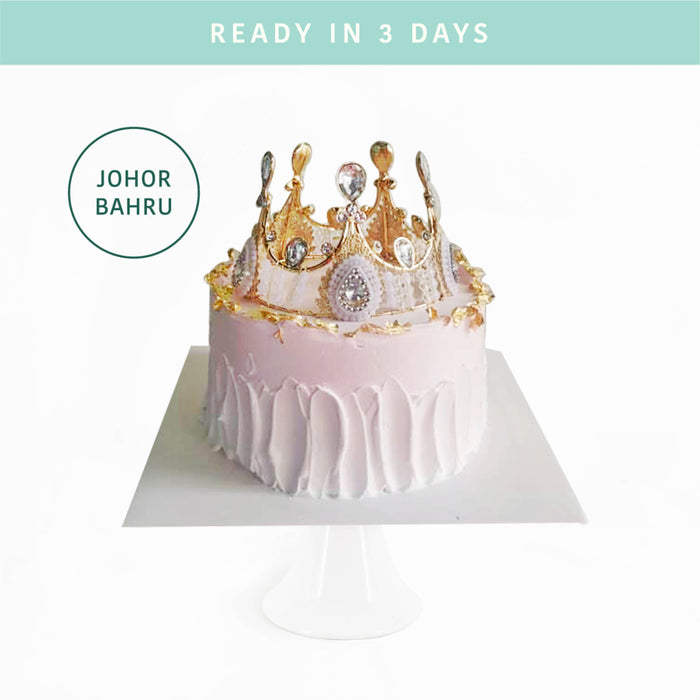Pink Crown Princess Cake - Cake Together - Online Birthday Cake Delivery